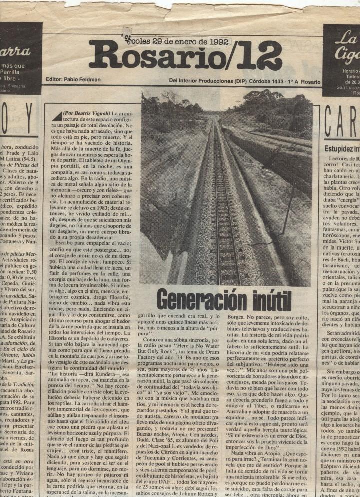 Contratapa Rosario 12_enero 29_1992